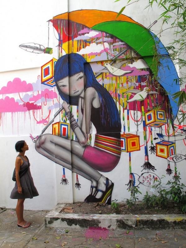 I graffiti di Julien Malland aka Seth ad Ariano per Willoke Rebirth - Città di Ariano . IT